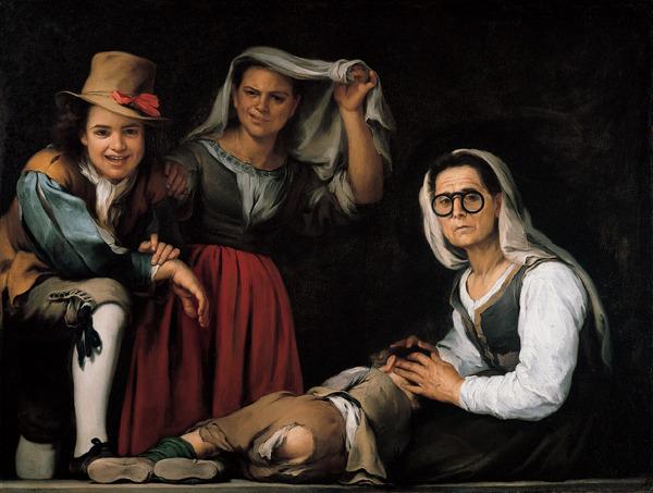 Four Figures On A Step