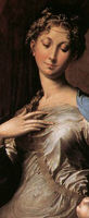 Parmigianino madonna of the long neck pigment