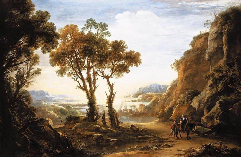 picturesque famous living artists today. Evening Landscape Claude Lorrain  artble com