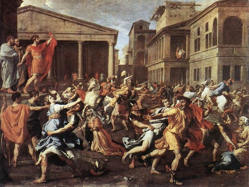 The Rape of the Sabine Women - Poussin