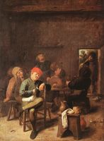 Peasants Smoking and Drinking