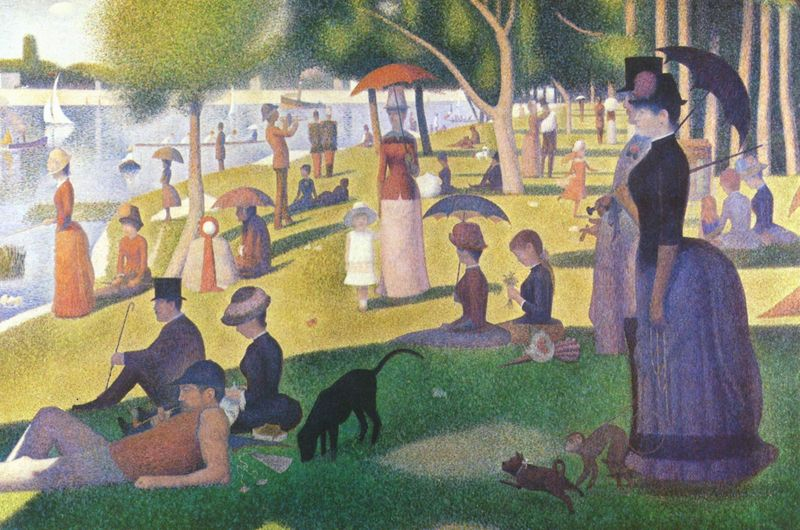 「Sunday Afternoon on the Island of La Grande Jatte」の画像検索結果