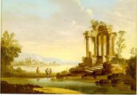 Landscape with Temple Ruins