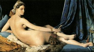 Jean-auguste-dominique ingres's portrayal of the woman in grande odalisque  her body.