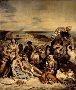 Massacres at Chios Greek Families Awaiting Death or Slavery