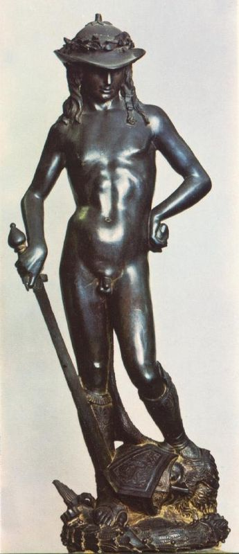 essay on donatellos david When we think of the most famous statue in the world, we are most likely to recall the figure of david large figure sculpture was an important element in renaissance.
