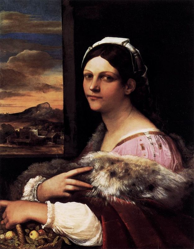 Lady in a Fur Wrap | artble.com