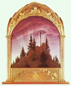 Caspar friedrich david forest scene cathedral