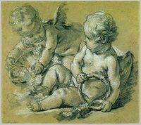 Two Winged Putti