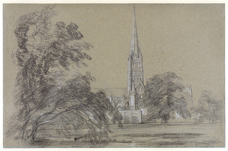 Salisbury Cathedral: exterior from the south-west | artble.com Fragonard Paintings