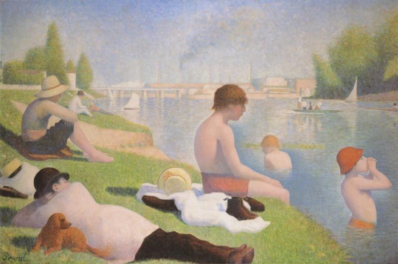 Georges-Pierre Seurat - Banhistas em Asnieres - 1884