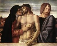 Dead Christ Supported by Mary and Saint John Evangelista