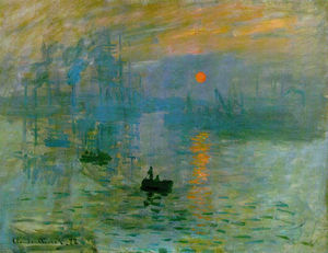 "Whose painting impression sunrise inspired the use of the term ""impressionism"""