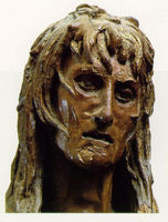 Mary Magdalen's sunken face