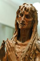 Which of the following is true regarding the sculptures of david and mary magdalene by donatello