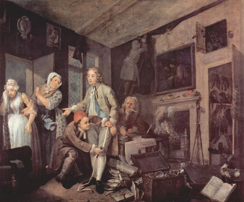A rake 39 s progress for William hogarth was noted for painting