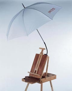 White Umbrella In En Plein Air Painting