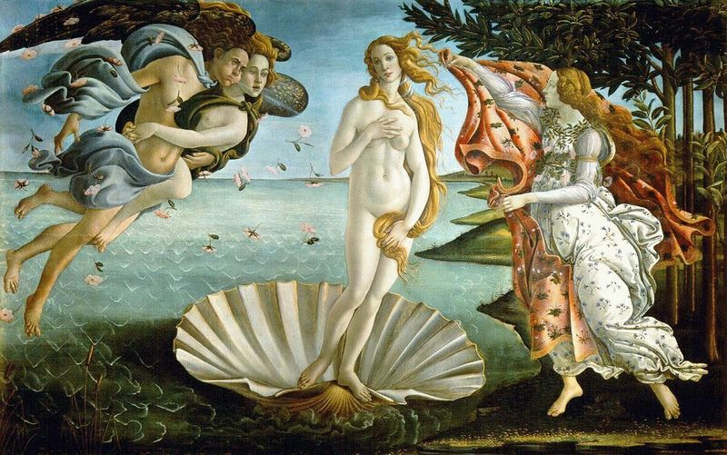 Cabanel birth of venus style dress