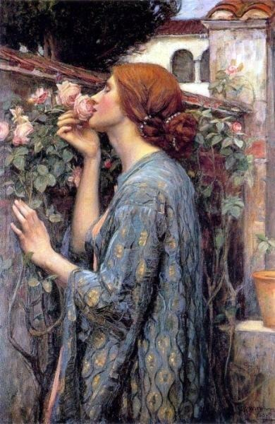 Image result for john williams waterhouse paintings smelling roses