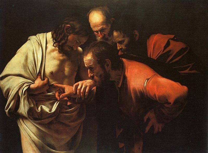 Image result for thomas, Jesus, caravaggio