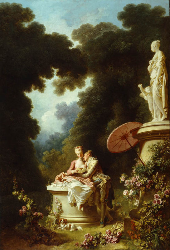 Jean honore fragonard for Rococo period paintings
