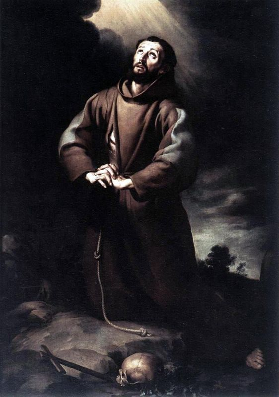 st francis of assisi at prayer artblecom