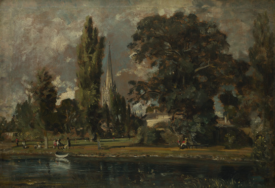 John Constable Salisbury_cathedral_and_leadenhall_from_the_river_avon