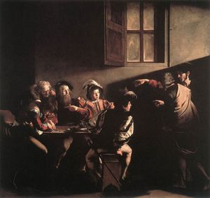 The calling of saint matthew by caravaggio used what technique