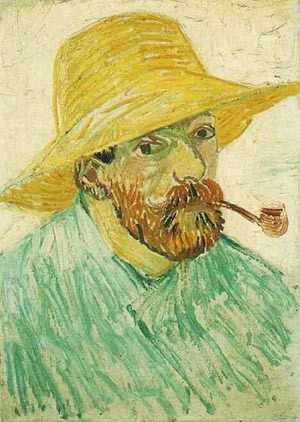 Vincent Van Gogh Self Portrait With Straw Hat