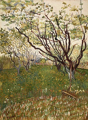 the flowering orchard by vincent van Flowering orchards (van  in his flowering trees, vincent  i am up to my ears in work for the trees are in blossom and i want to paint a provençal orchard.