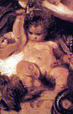 Cropped - The Infant Hercules Strangling Serpents in his Cradle