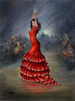 A typical Spanish Flamenco Dancer