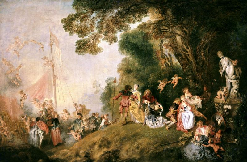 Antoine watteau for Rococo period paintings