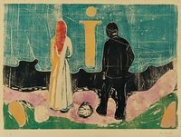 The Lonely Ones, Edvard Munch
