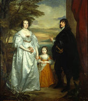 James Seventh Earl of Derby His Lady and Child